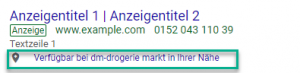 Affiliate Standorterweiterung Google Ads
