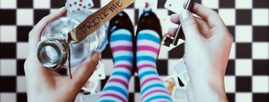 Alice im Wunderland Ziele Zitat