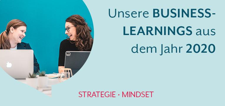 Die Boost my Business Learnings aus dem Jahr 2020