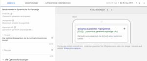 DSA-Anzeige bei Google Ads