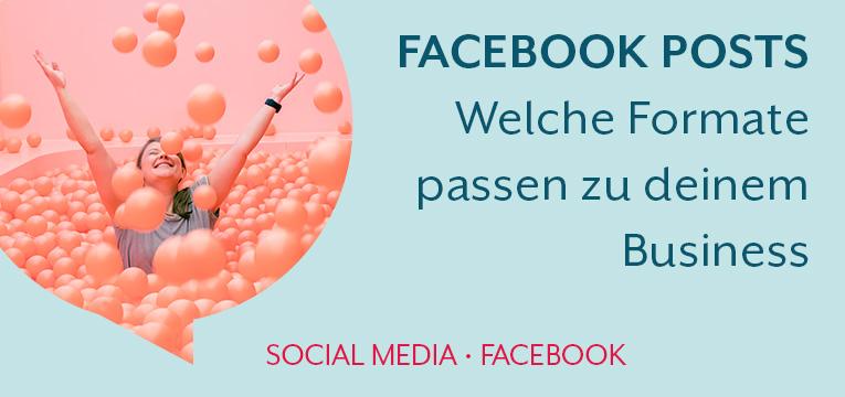 Facebook Post-Formate für dein Marketing