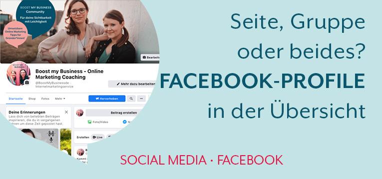 Seite, Gruppe oder beides? Facebook Profile für Gründer