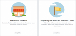 Facebook Seite und Unternehmensprofil anlegen