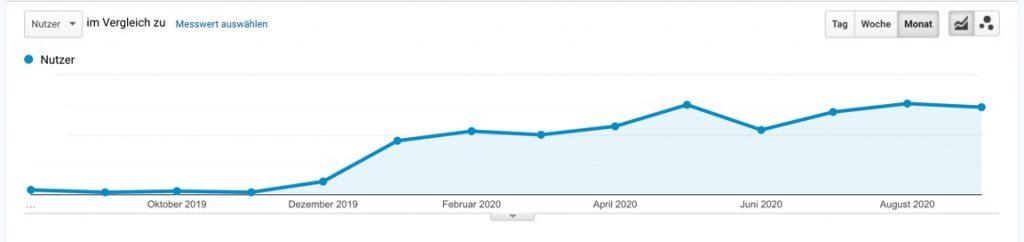 Google Analytics Entwicklung SEO