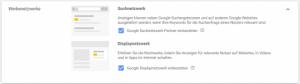 Googles Suchnetzwerk und Displaynetzwerk