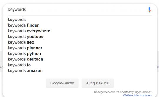 Google Suggest Keywords