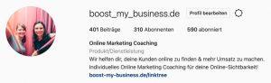 Instagram Bio Boost my Business