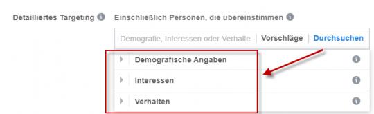 Interessentargeting Facebook