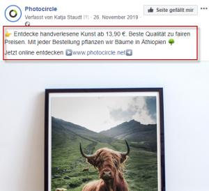 photocircle Facebook Ad
