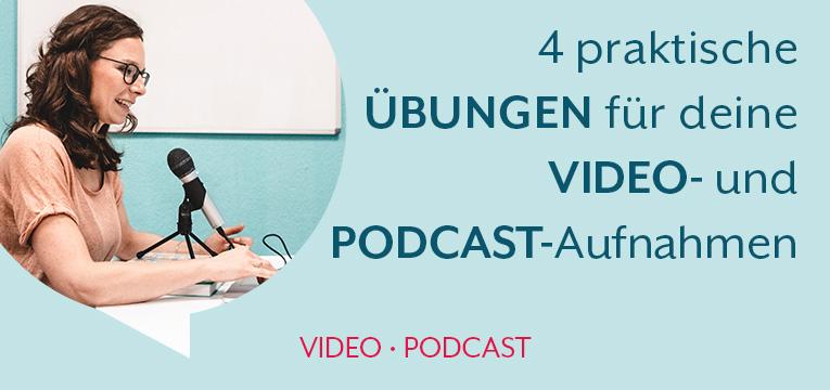 Video & Podcast: Übungen für deine ersten Aufnahmen!