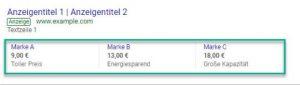 Preiserweiterung Google Ads