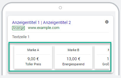 Mobile Preiserweiterung Google Ads