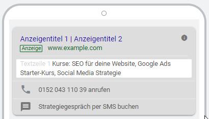 Mobile Snippet Erweiterung bei Google