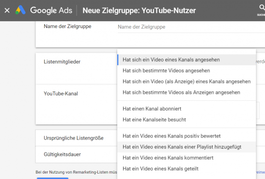YouTube Remarketing